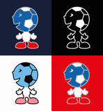 Ícones de fósforos de futebol Imagens de Stock Royalty Free