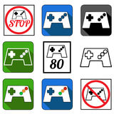 Ícones de Gamepad ajustados foto de stock