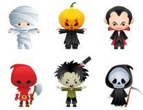 Ícones de Halloween Fotos de Stock Royalty Free