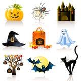 Ícones de Halloween Imagem de Stock Royalty Free