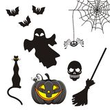 Ícones de Halloween Fotografia de Stock Royalty Free