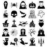 Ícones de Halloween Fotos de Stock
