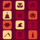 Ícones de Halloween Imagem de Stock