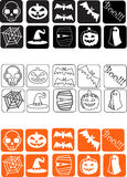 Ícones de Halloween Foto de Stock Royalty Free