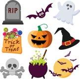 Ícones de Halloween Imagens de Stock