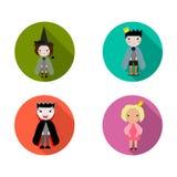 Ícones de Halloween ajustados Foto de Stock Royalty Free