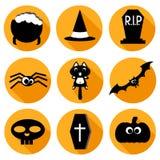 Ícones de Halloween ajustados Foto de Stock