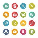 Ícones de Inteface -- Série fresca das cores Imagem de Stock
