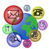 Ícones de Interet Fotografia de Stock Royalty Free