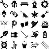 Ícones de jardinagem ilustração stock