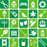 Ícones de jardinagem Imagens de Stock