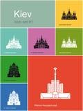 Ícones de Kiev ilustração royalty free