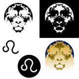 Ícones de Leo do zodíaco Imagem de Stock
