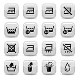 Ícones de limpeza e de lavagem Fotos de Stock