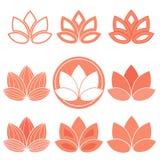 Ícones de Lotus Ilustração do Vetor