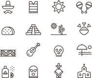Ícones de México Fotografia de Stock Royalty Free