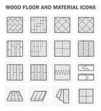 Ícones de madeira do assoalho ilustração do vetor