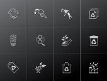 Ícones de Metalllic - mais ambiente Imagem de Stock