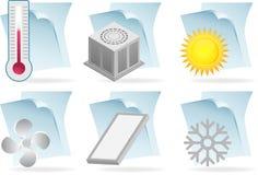 Ícones de original do condicionador de ar Fotografia de Stock Royalty Free