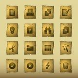 Ícones de original do papiro Foto de Stock