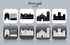 Ícones de Portugal ilustração do vetor