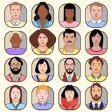 Ícones de povos diferentes Ilustração do vetor ilustração do vetor