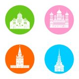 Ícones de Rússia ajustados Fotos de Stock