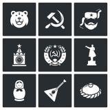 Ícones de Rússia Ilustração do vetor Fotografia de Stock Royalty Free