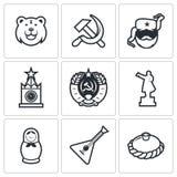 Ícones de Rússia Ilustração do vetor Foto de Stock