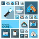 Ícones de Real Estate Fotografia de Stock
