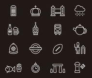 Ícones de Reino Unido Foto de Stock