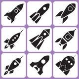 Ícones de Rocket Imagens de Stock Royalty Free