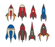 Ícones de Rocket ilustração royalty free