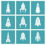 Ícones de Rocket ilustração stock