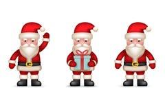 Ícones de Santa Claus Toy Character dos desenhos animados ajustados Imagens de Stock