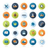 Ícones de SEO Imagem de Stock