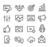 Ícones de SEO ajustados ilustração stock
