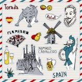 Ícones de Spain Imagem de Stock Royalty Free