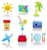 Ícones de Touristâs Imagens de Stock