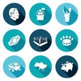 Ícones de Ucrânia ajustados Ilustração do vetor Fotografia de Stock Royalty Free