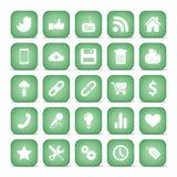 Ícones de uma comunicação. Coleção ajustada do Internet da Web. Fotos de Stock Royalty Free