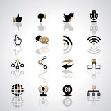 Ícones de uma comunicação Fotos de Stock Royalty Free