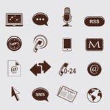 Ícones de uma comunicação ilustração royalty free