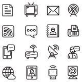 Ícones de uma comunicação Imagens de Stock Royalty Free