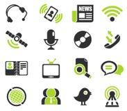 Ícones de uma comunicação Fotos de Stock