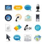 Ícones de uma comunicação ajustados ilustração royalty free