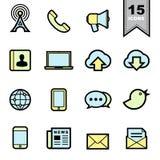 Ícones de uma comunicação ajustados Fotografia de Stock Royalty Free