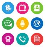 Ícones de uma comunicação da cor Foto de Stock Royalty Free
