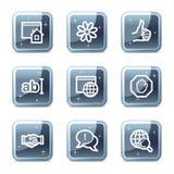 Ícones de uma comunicação do Internet Fotografia de Stock