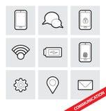 Ícones de uma comunicação do vetor Fotografia de Stock